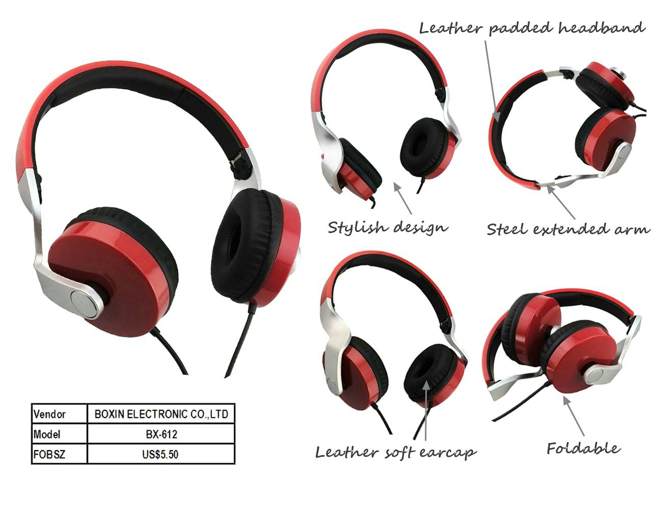 Stereo headphone new foldable Media Microphone