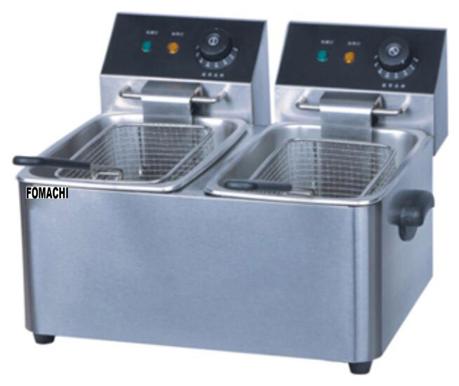 Electric Deep Fryer 2 Tank 2 Basket Electric Fryer FMX-WE263A