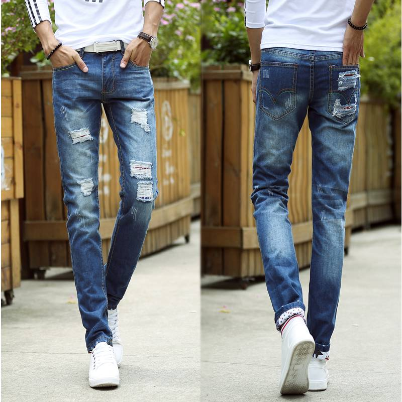 men wholesale cheap jeans made in china stretch slim fit