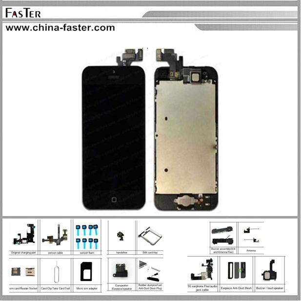 High Copy LCD For iPhone 5,replacement for iphone 5 lcd screen