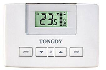 FCU thermostat with floating control of a floating valve: