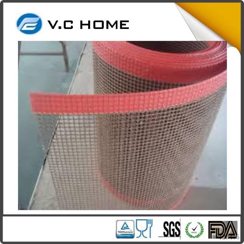 Low Price teflon conveyor mesh belt Non-sticky mesh fabric ptfe coated fiberglass mesh hot sale in C