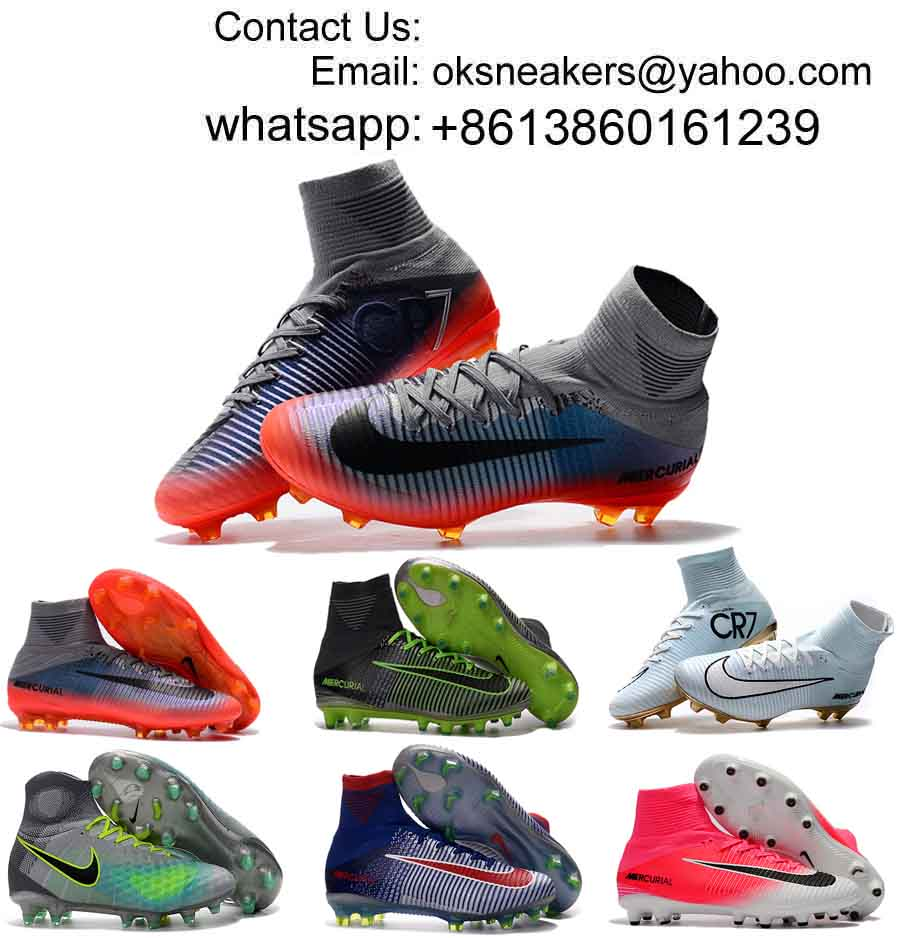 Wholesale Mercurial Superfly CR7 High Ankle Soccer Shoes Men Women Football Boots Free Shipping