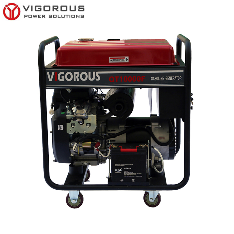 Portable Three Phase Gasoline Generator with Handles and Wheels