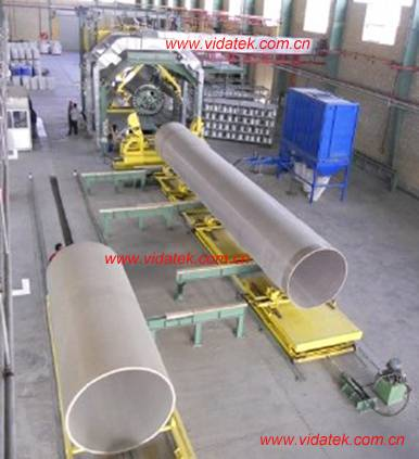 Continuous filament winding machine for GRP FRP pipe