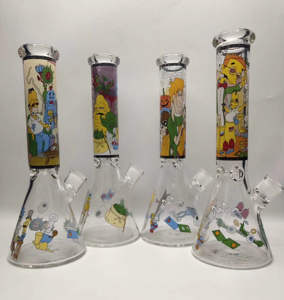 America USA glass bongs hand pipe beaker pipe smoking glass pipe