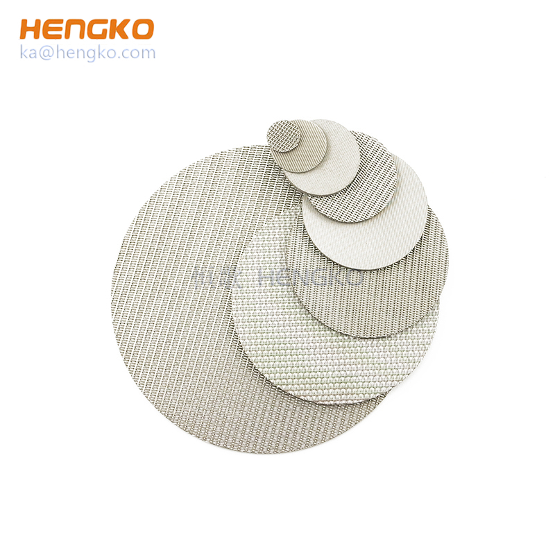 sintered 304/316L stainless steel porous metal mesh for filtration system
