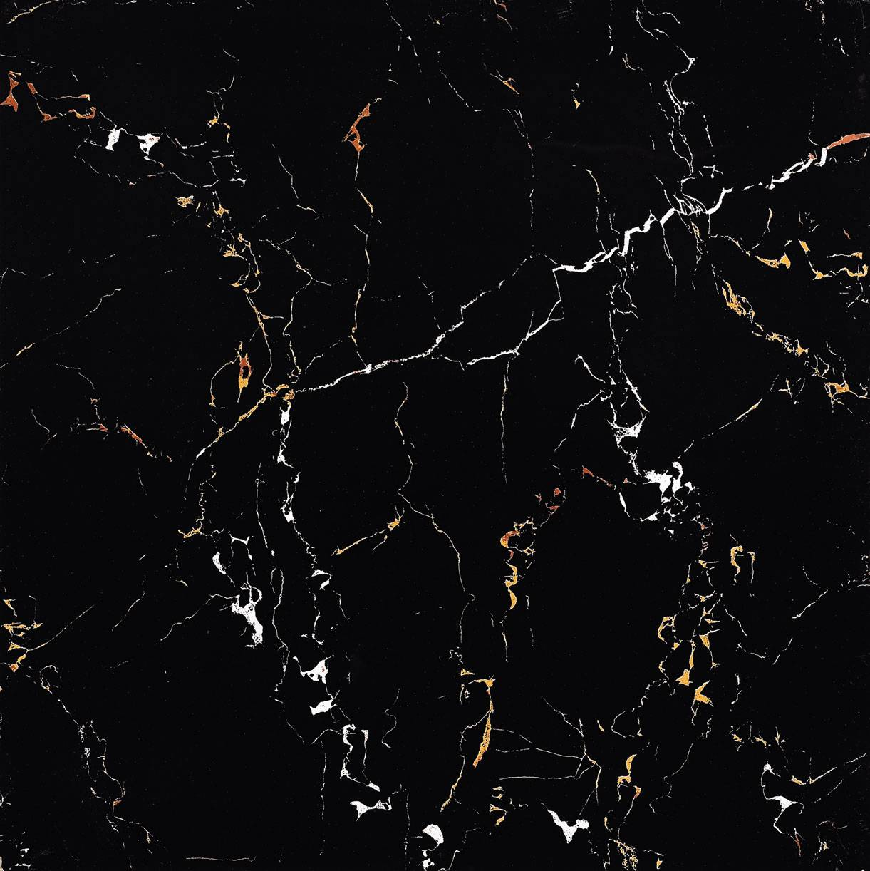600x600mm Black with gold glazed polished tile