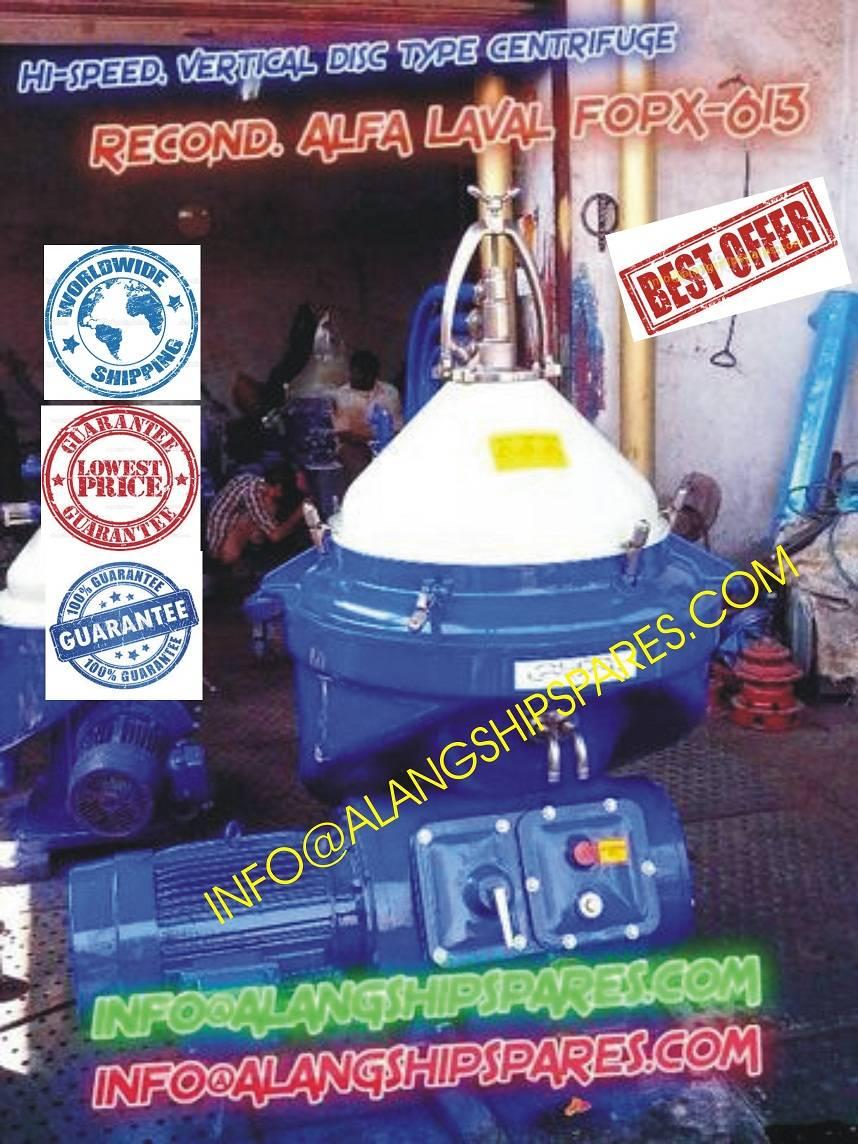 Alfa Laval FOPX-613, FOPX-610 oil purifier for HFO purification