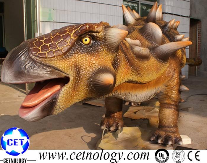 Amusement Park Animatronic Ankylosaurus &Static Dinosaur