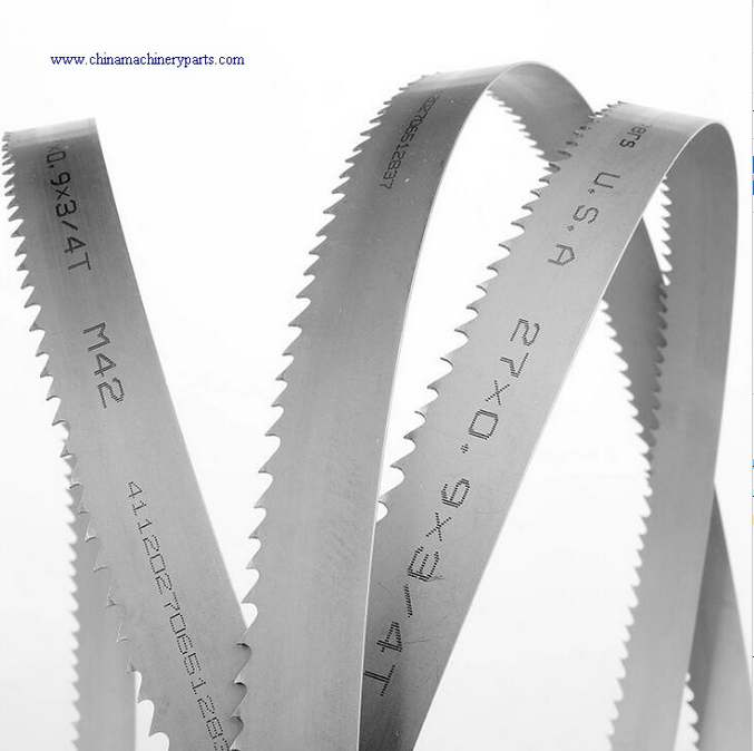 Bimetal band saw blades for cutting metal