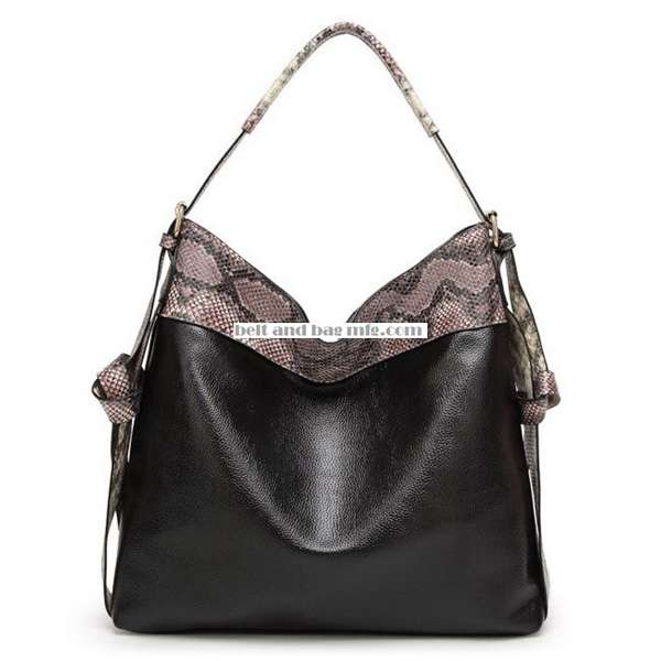 Women's Python-Embossed Hobo WB-014
