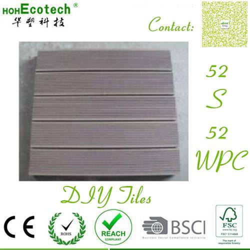 520mm High workable wood tiles Exterior building material good quality WPC