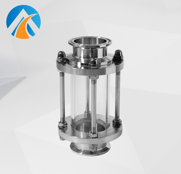 Sanitary stainless steel pipeline sight glass