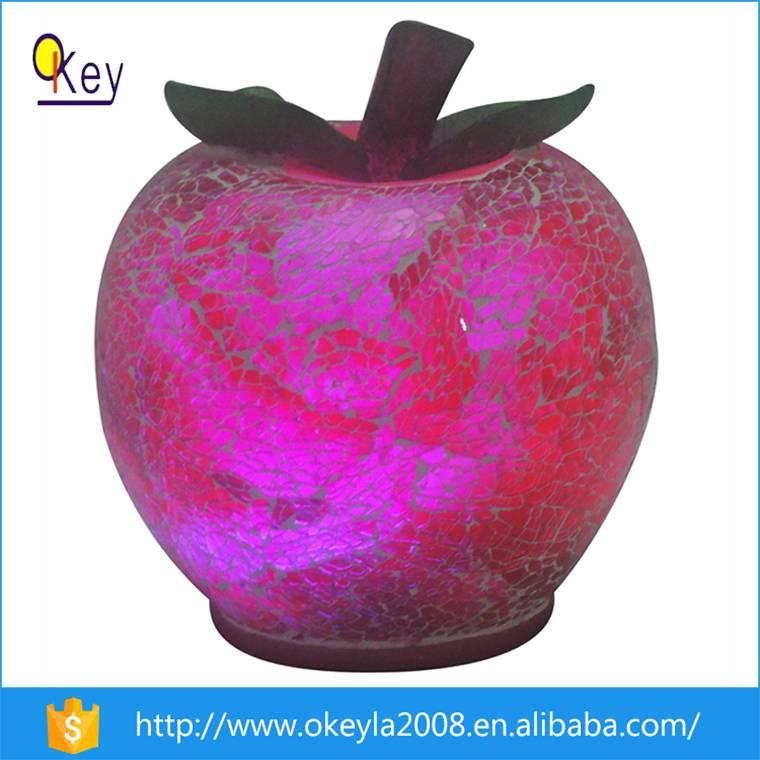 Battery Waterproof LED Apple Shape Glass Light Balls For Home Decoration
