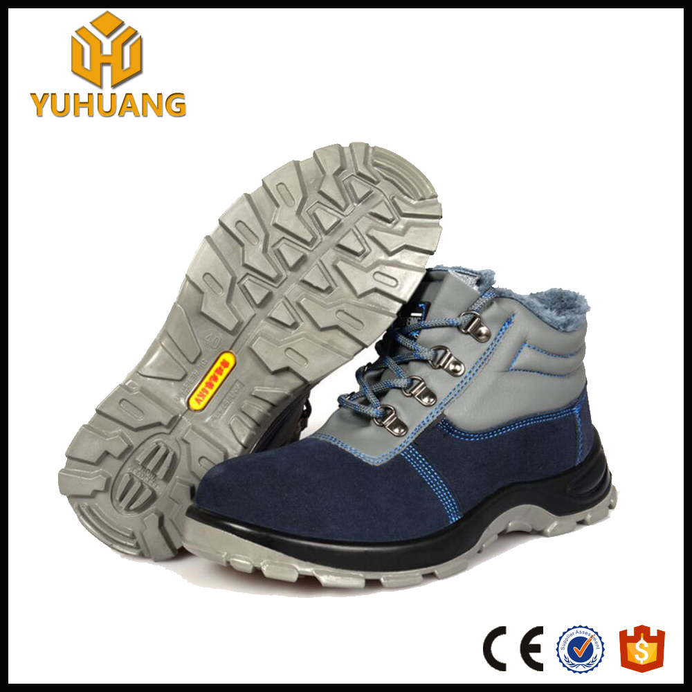 cheap cow leather winter steel teo cap boots with fur