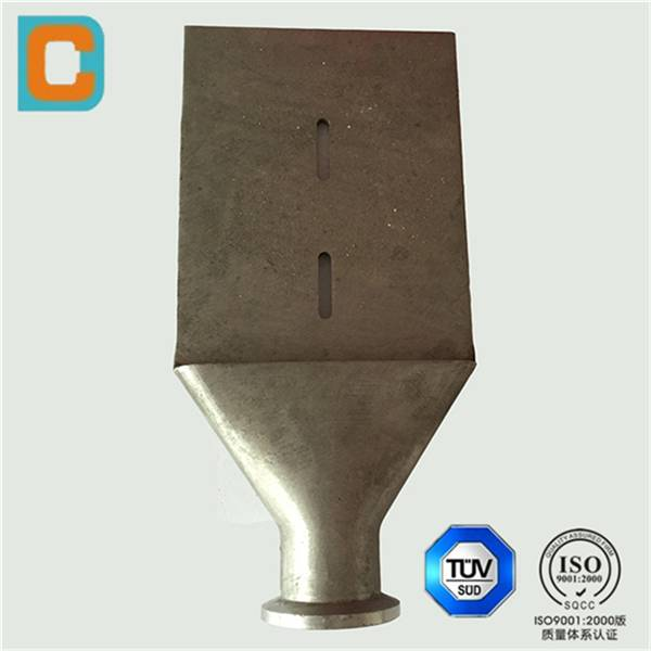 Lost wax casting heat treatment nozzle