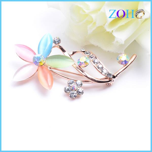 New fashion alloy design simple flower shape brooch charming gifts for beauty