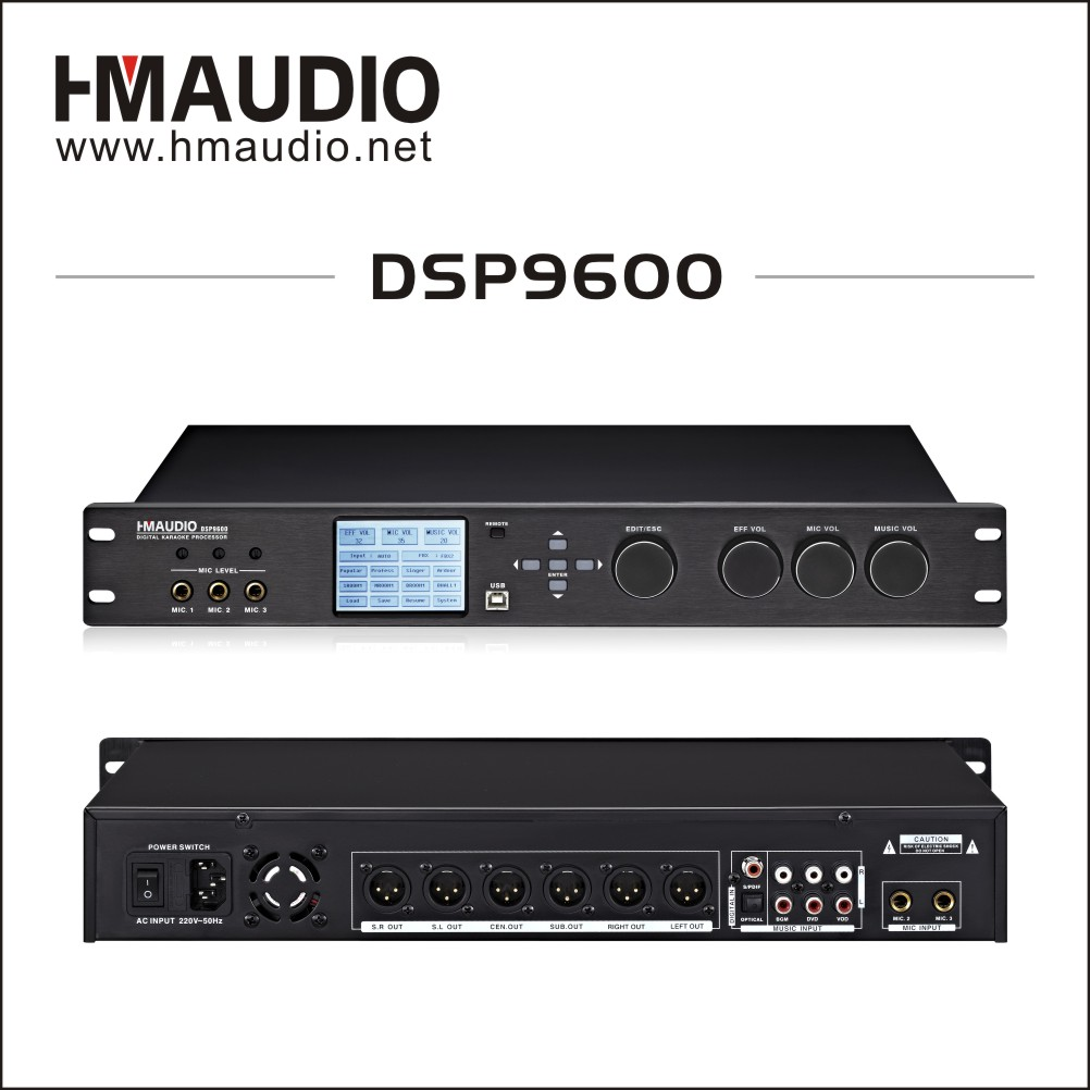 2017 DSP9600 High-end Supplier Digital Karaoke Processor Crossover