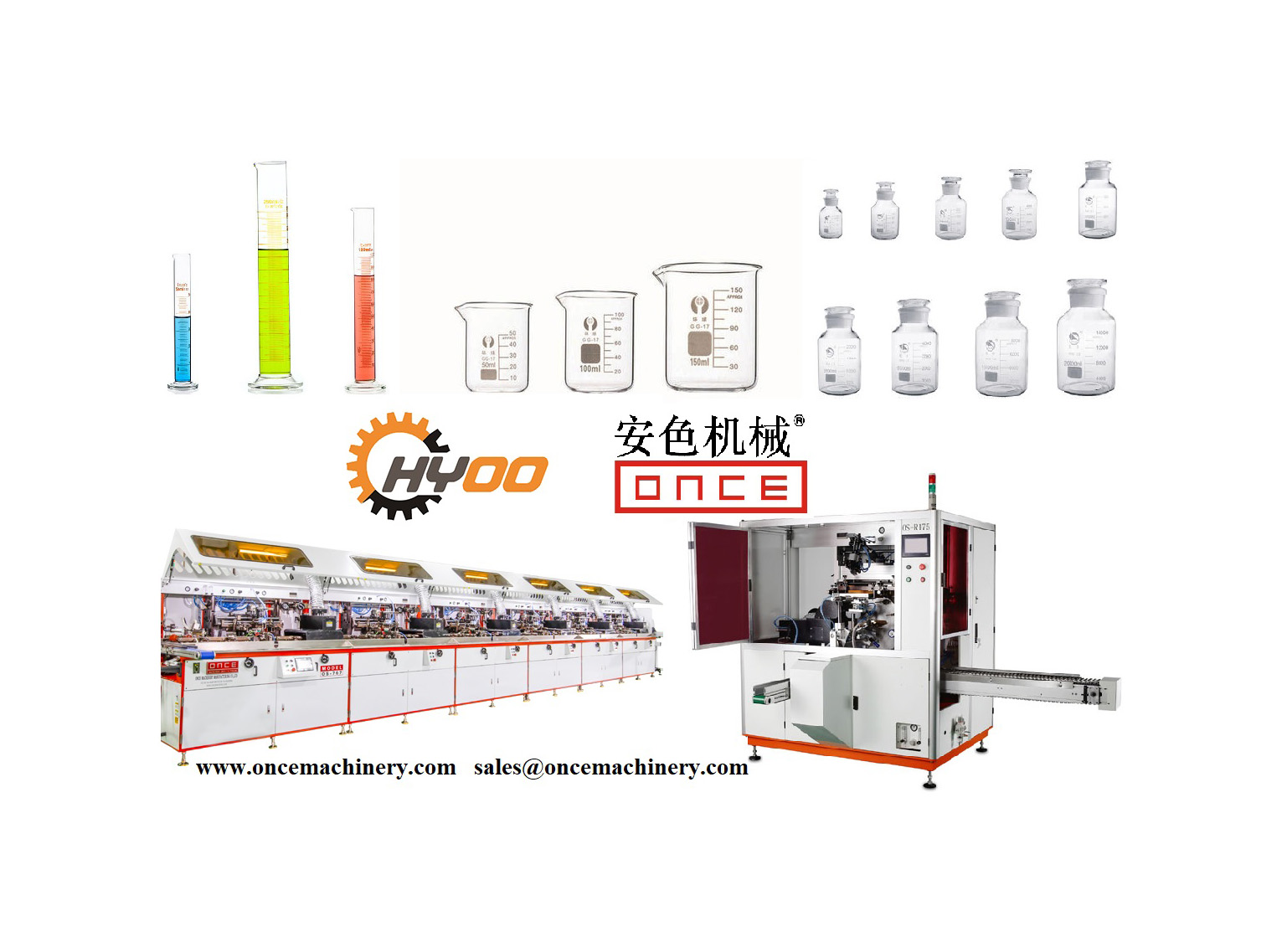 Huayu Automation - Screen Printing Machines for Medical Measuring Cup, Sample Bottle, Syringe