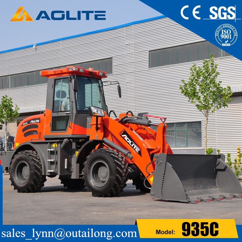 Chinese factory small skid steer wheel loader 935C with joystick for sale