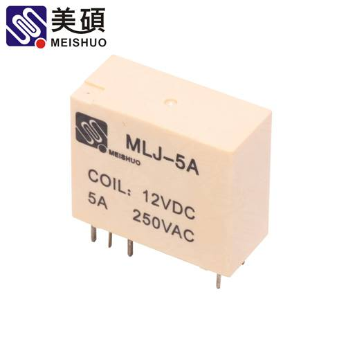 MEISHUO MLJ 5A Latching relay 250VAC 2B 2C relay PCB layout relay
