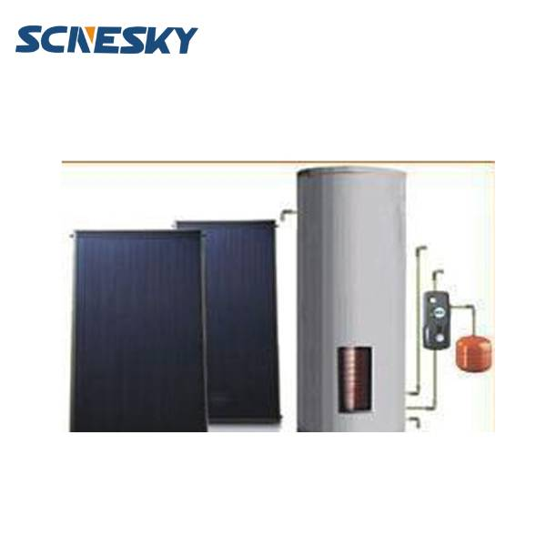 bath shower closed loop pressurized split flat plate solar water heaterwith solar water controller