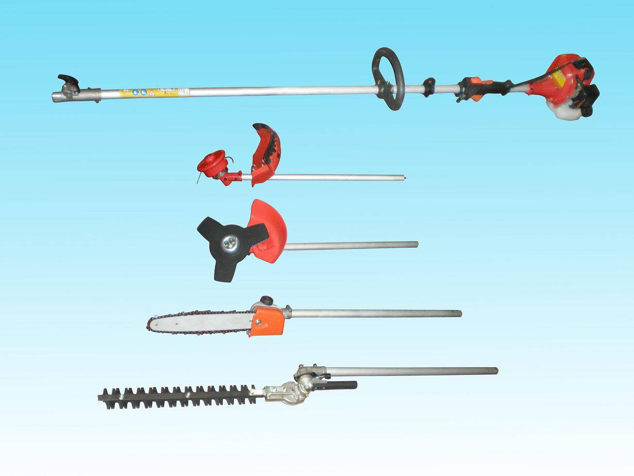 Multifunctional brush cutter,hedge trimmer,chain saw