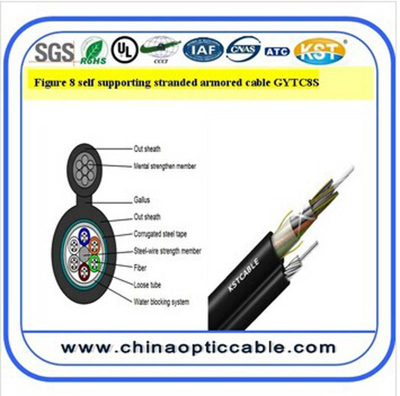 Figure 8 self-supporting armored cable (GYTC8S)