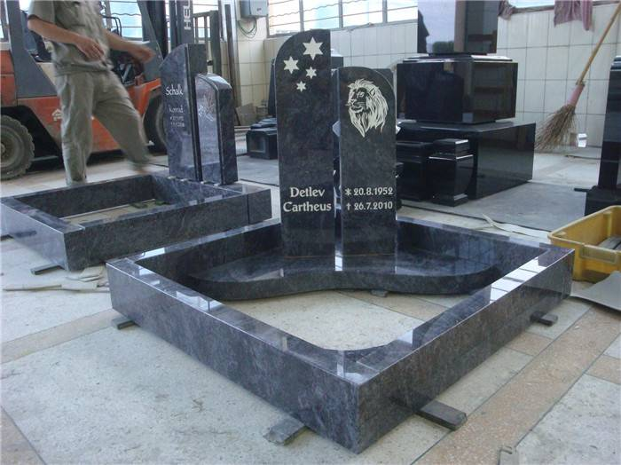 black granite india headstone