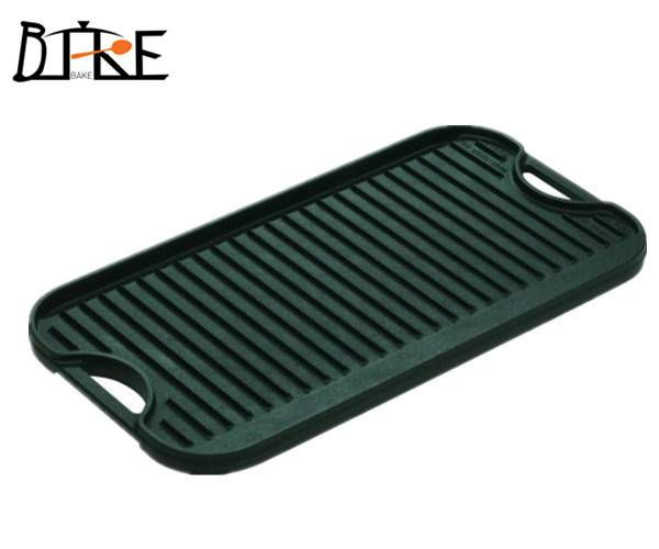 cast iron Reversible Grill/Griddle for BBQ