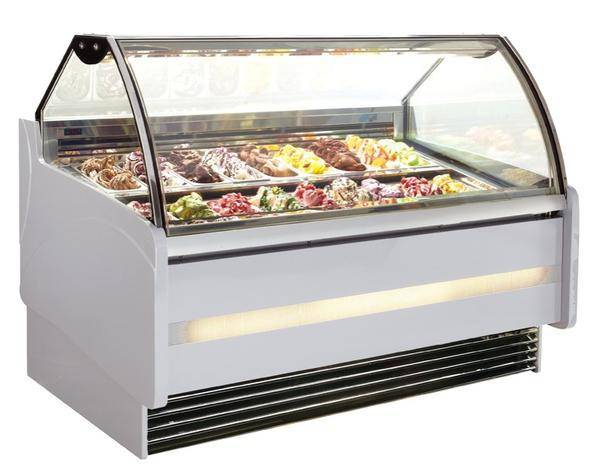 OEM stainless steel ice cream display freezer