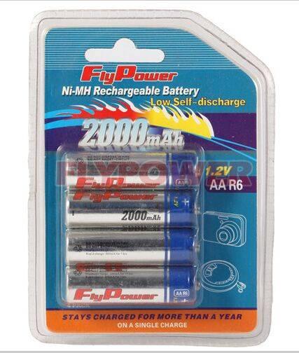 1.2V AA2000mAh low self discharge Ni-MH battery(RTU type)