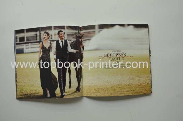 250gr/m2 plastered coated paper cover film stamped landscape softback book printing on demands