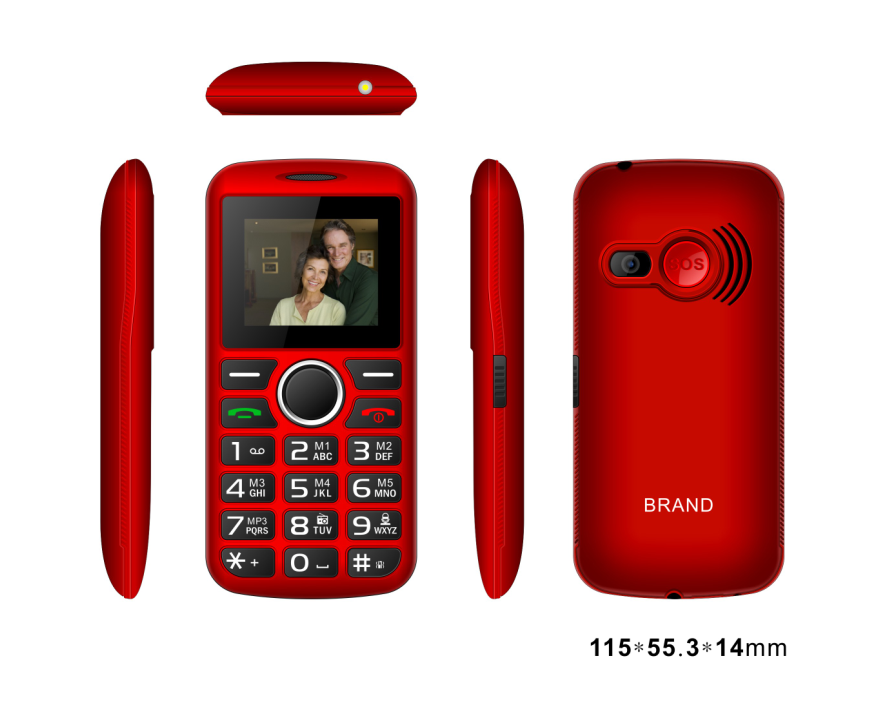 1.77inch senior phone with 0.08MP Camera 800mAh battery