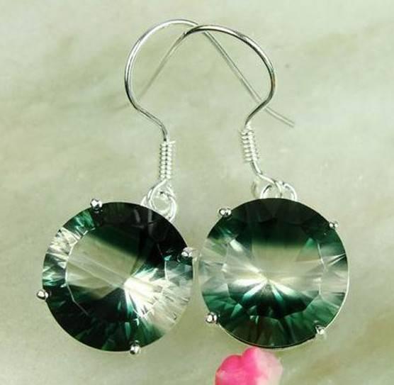 925 Sterling Silver Mystic Topaz Gemstone earrings