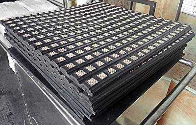 Long lifespan ceramic lined rubber lining for belt conveyor drum