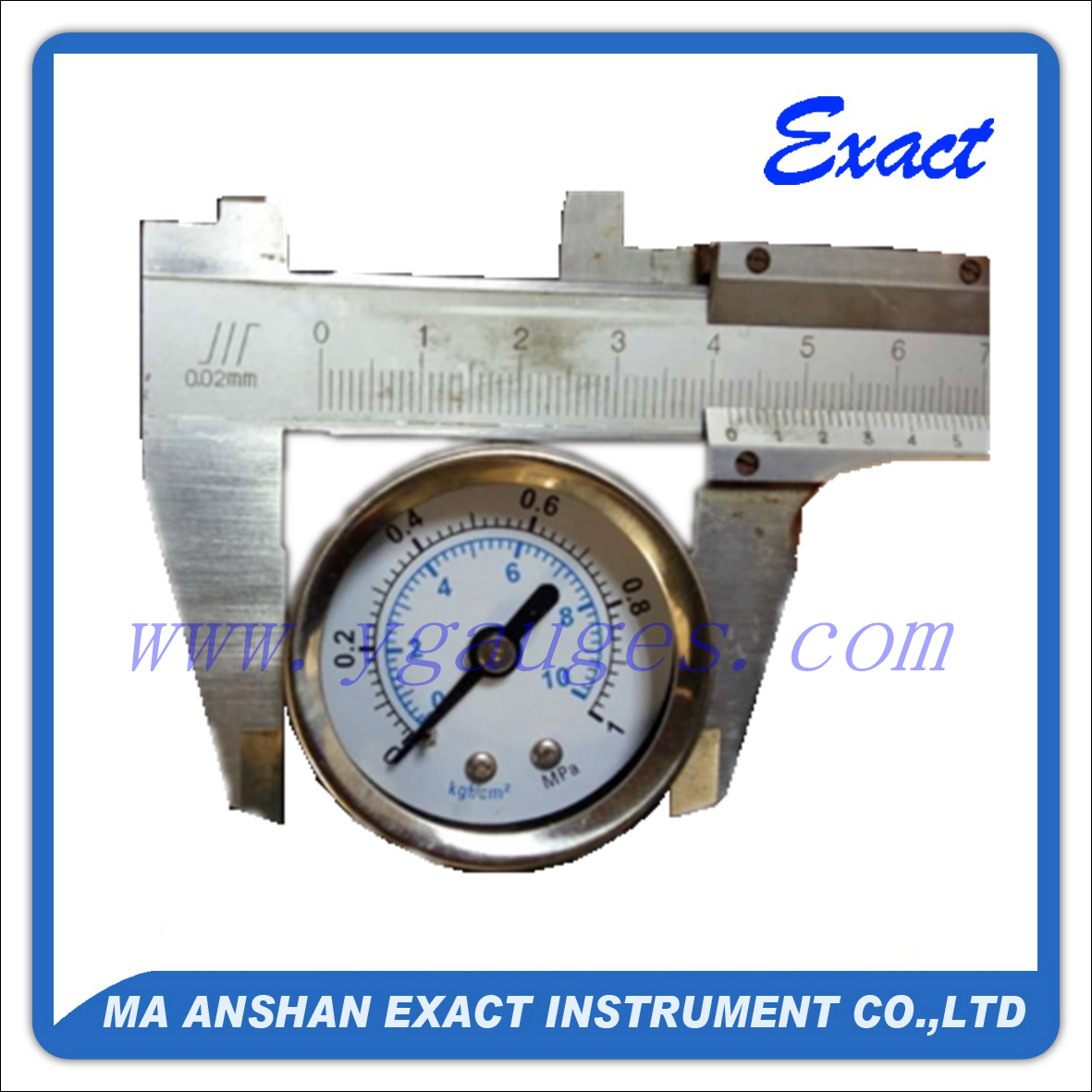 25mm Miniure Bourdon Tube Pressure Gauge