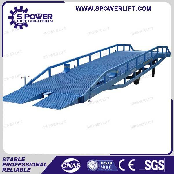 12T Warehouse truck mobile hydraulic container dock ramp lift