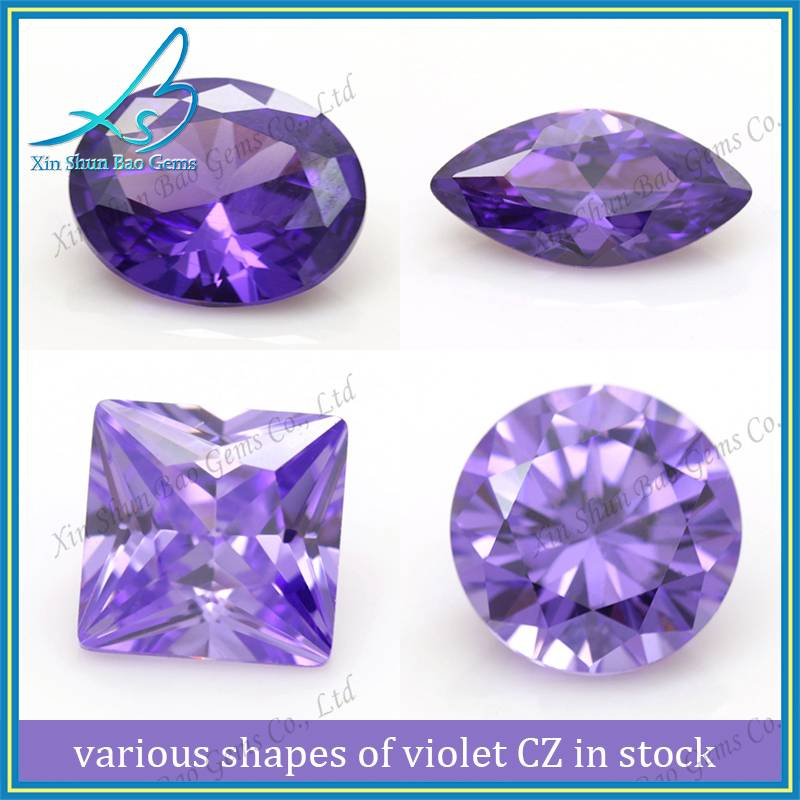 Various cutting loose zirconia, synthetic violet cz