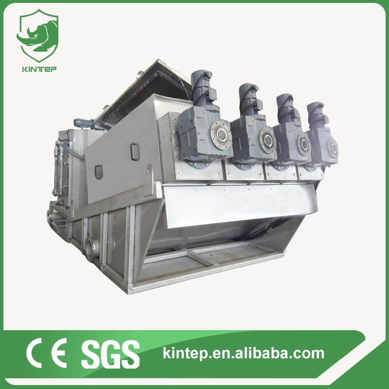 screw type press sludge dewatering machine