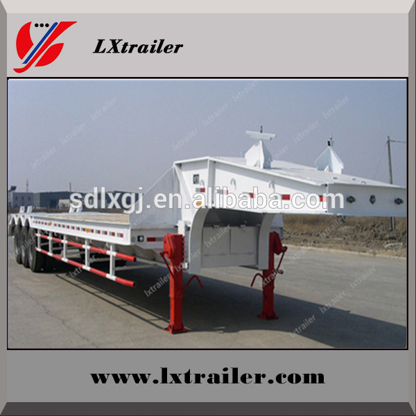 Tri Axles Flatbed Long Trailer made from China manufacturing company