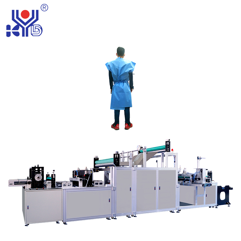 Automatic Disposable Protective Gowns Body Making Machine