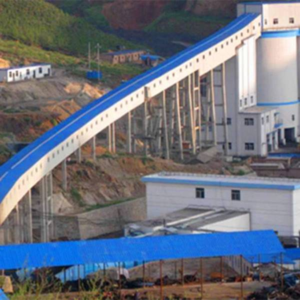 Long-distance Curve Belt Conveyor with Engineer Available