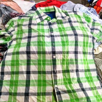 High Quality Mixed Used Clothing Men Short Sleeve Shirt