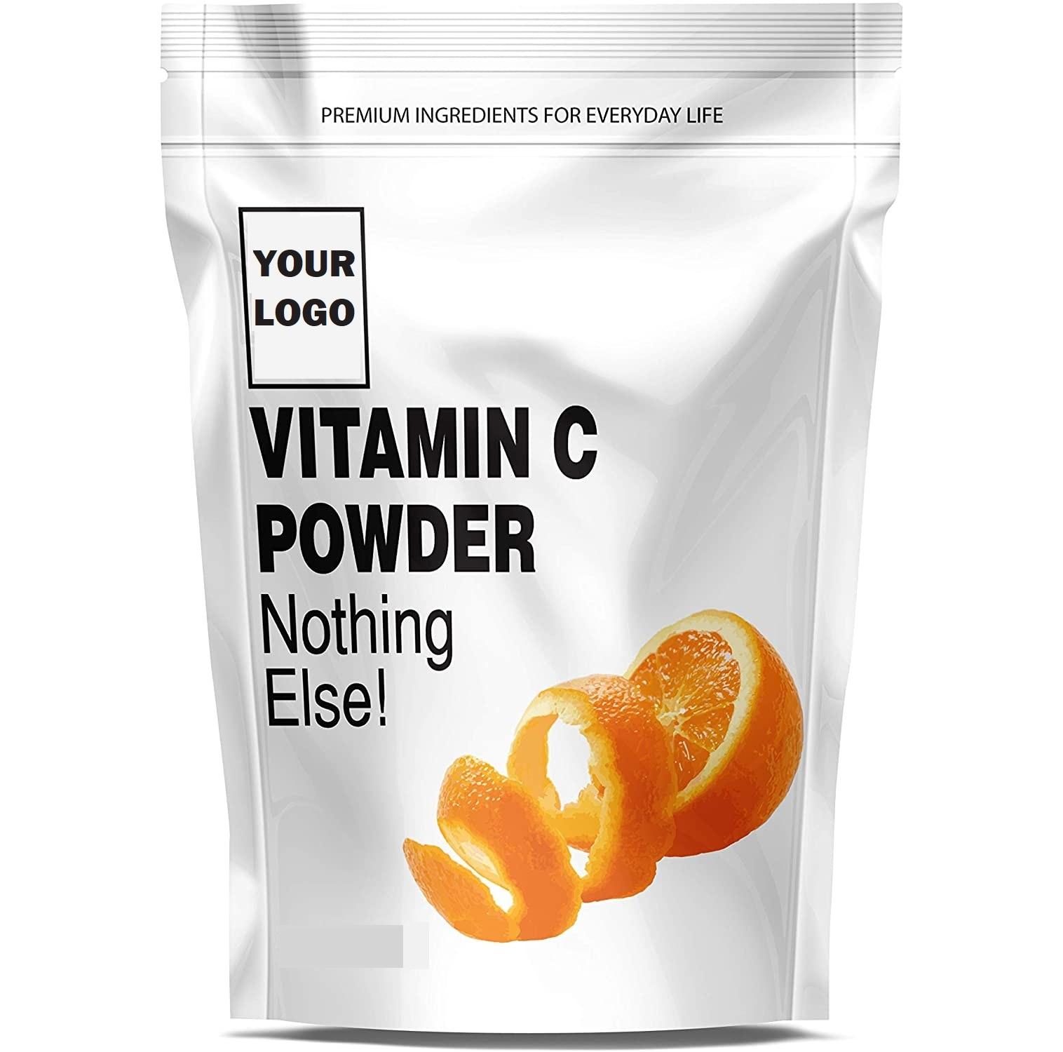 Vitamin C Powder 100% Pure Ascorbic Acid Food Grade Custom Label OEM