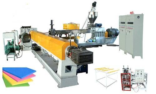 twin screw xps extruder machine for xps panels