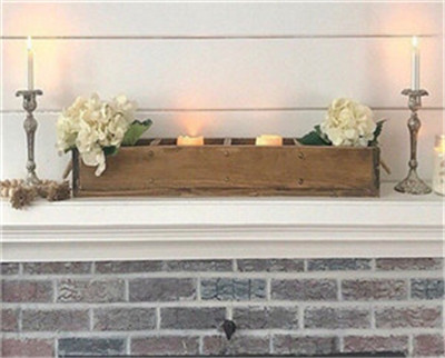 Handmade Rustic Centerpieces Box with compartments