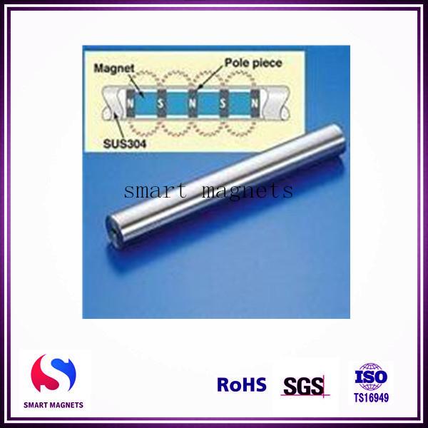 length 400mm diameter 40mm stainless steel 304 pipe magnet bar