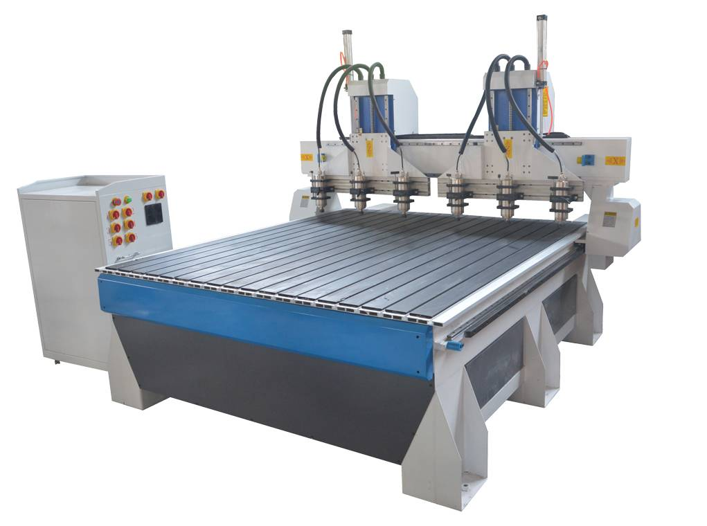 2515 HIGH CONFIGURATION RELIEF CNC MACHINE WITH TWO HEADS AND SIX SPINDLES(RACK TYPE)